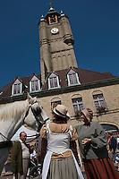 Europe/France/Nord-Pas-de-Calais/59/ Nord/ Bergues: le Beffroi - Beffroi inscrit au Patrimoine Mondial UNESCO lors d'une Fête médiévale