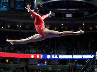 Elizabeth Price of Parkettes competes on the beam during the 2012 US Olympic Trials competition at HP Pavilion in San Jose, California on June 29th, 2012.