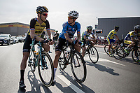 2 (former) CX World Champions & race favourites Lars Boom (NED/LottoNL-Jumbo) & Wout Van Aert (BEL/Vérandas Willems-Crelan) meeting up on the start grid<br /> <br /> 92th Schaal Sels 2017
