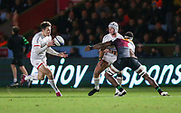 Friday 13th December 2019 | Harlequins vs Ulster Rugby<br /> <br /> Luke Marshall passes inside to Jacob Stockdale during the Heineken Champions Cup Round 4 clash in Pool 3, between Harlequins and Ulster Rugby and Harlequins at The Stoop, Twickenham, London, England. Photo by John Dickson / DICKSONDIGITAL