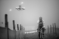 Kevin Pauwels (BEL/Marlux-NapoleonGames) during a recon ride in the mist (as light is dropping) in the free (late afternoon) training session the day before the event<br /> <br /> 2016 CX UCI World Cup Zeven (DEU)