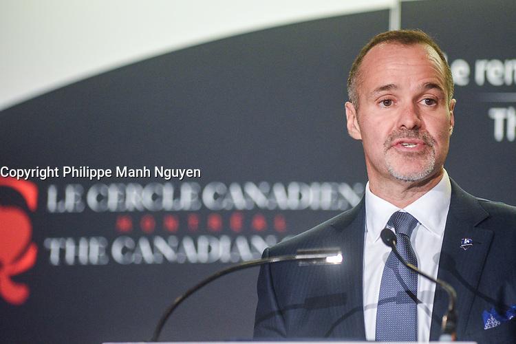 Joey Saputo<br /> , President, Impact de Montreal at Stade Saputo a la tribune du Cercle canadien de Montreal, lundi 30 Janvier 2017.<br /> <br /> PHOTO : Philippe Manh Nguyen<br /> <br />  - Agence Quebec Presse