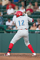 Outfielder .Anthony Hewitt #12 of the Clearwater Threshers during the game against the Daytona Cubs at Jackie Robinson Ballpark on May 1, 2012 in Daytona Beach, Florida. (Scott Jontes/Four Seam Images)