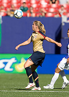 Cat Whitehill prepares to trap the ball. USA defeated Brazil 2-0 at Giants Stadium on Sunday, June 23, 2007.