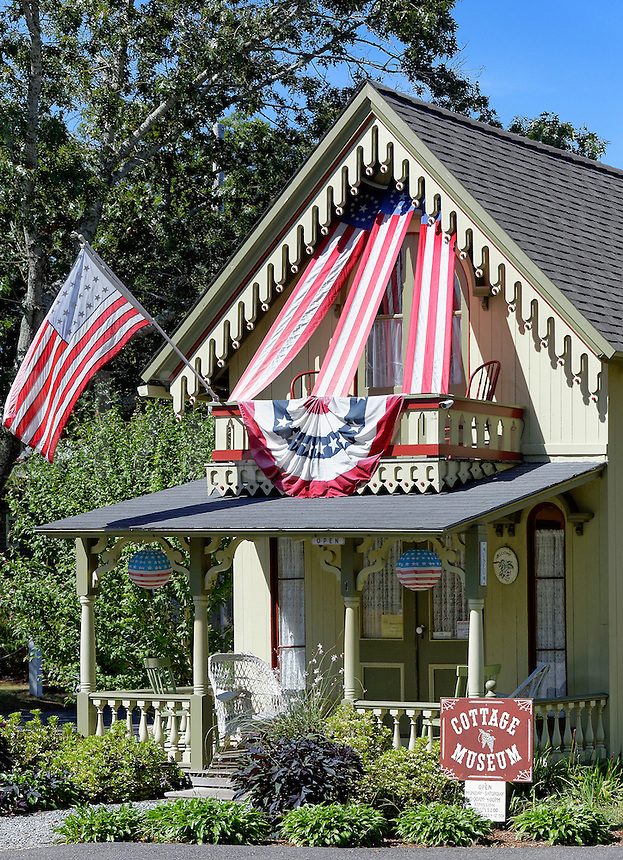 Cottage Musem, Oak Bluffs, Martha's Vineyard, Massachusetts, USA