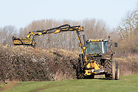 26-2-2021 Hedge cutting in Lincolnshire <br /> ©Tim Scrivener Photographer 07850 303986<br />      ....Covering Agriculture In The UK....