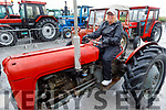 Mary Lawlor from Ardfert on her tractor at the Abbeydorney Vintage Tractor and Car run in Abbeydorney on Saturday