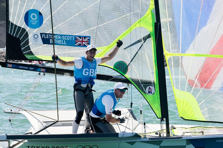 Gold medal to Dylan Fletcher (left) and Stu Bithell (GBR)