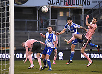 9th January 2021; Memorial Stadium, Bristol, England; English FA Cup Football, Bristol Rovers versus Sheffield United; Edward Upson heads across goal for Max Ehmer of Bristol Rovers to score for 2-2 in the 62nd minute
