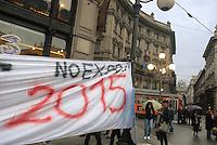 - demonstration of No Expo committee against Milan candidacy to 2015 World Exposition....- manifestazione del Comitato No Expo contro la candidatura di Milano alla Esposizione Mondiale del 2015