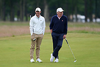 7th July 2021; North Berwick, East Lothian, Scotland; Rory McIlroy Northern Ireland and Dermot Desmond during the Celebrity Pro-Am at the abrdn Scottish Open at The Renaissance Club, North Berwick, Scotland.