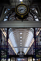 UK. London. 24th February 2014<br /> The interior roof at Smithfield market.<br /> ©Andrew Testa for the New York Times