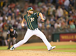 Ryan Cook<br /> Boston Red Sox at Oakland A's at O.Co coliseum in Oakland, June 20, 2014