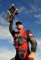 Dec. 10, 2011; Chandler, AZ, USA;  LOORRS pro 2 unlimited driver Carl Renezeder during round 15 at Firebird International Raceway. Mandatory Credit: Mark J. Rebilas-