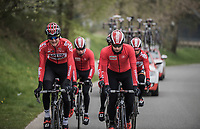 Tim Wellens (BEL/Lotto Soudal) & Thomas De Gendt (BEL/Lotto Soudal)<br /> <br /> Team Lotto-Soudal at the Liège-Bastogne-Liège 2017 recon