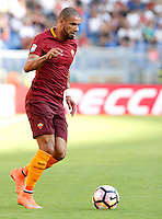 Calcio, Serie A: Roma vs Udinese. Roma, stadio Olimpico, 20 agosto 2016.<br /> Roma's Bruno Peres in action during the Italian Serie A football match between Roma and Udinese at Rome's Olympic Stadium, 20 August 2016. Roma won 4-0.<br /> UPDATE IMAGES PRESS/Riccardo De Luca