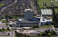 Aerial view of DVLA Headquarters Driver and Vehicle Licensing Agency HQ in Morriston Swansea