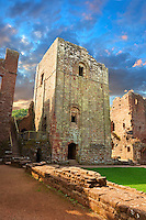 The 12th century medieval Norman ruins & Keep of Goodrich Castle, Goodrich, Herefordshire, England