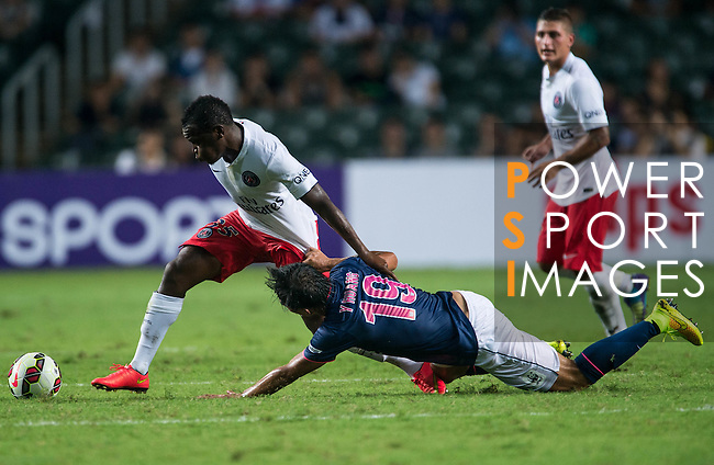 Kitchee SC vs Paris Saint-Germain during the The Meeting of Champions on July 29, 2014 at the Hong Kong stadium in Hong Kong, China.  Photo by Aitor Alcalde / Power Sport Images
