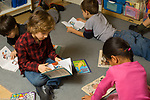Education Elementary school Grade 2 students reaading independently