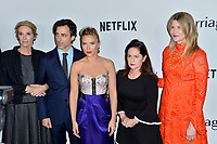 "LOS ANGELES, USA. November 06, 2019: Julie Hagerty, Noah Baumbach, Scarlett Johansson, Martha Kelly & Laura Dern at the premiere for ""Marriage Story"" at the DGA Theatre.<br /> Picture: Paul Smith/Featureflash"