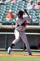 Tennessee Smokies outfielder Rubi Silva (24) during a game against the Birmingham Barons on April 21, 2014 at Regions Field in Birmingham, Alabama.  Tennessee defeated Birmingham 10-5.  (Mike Janes/Four Seam Images)