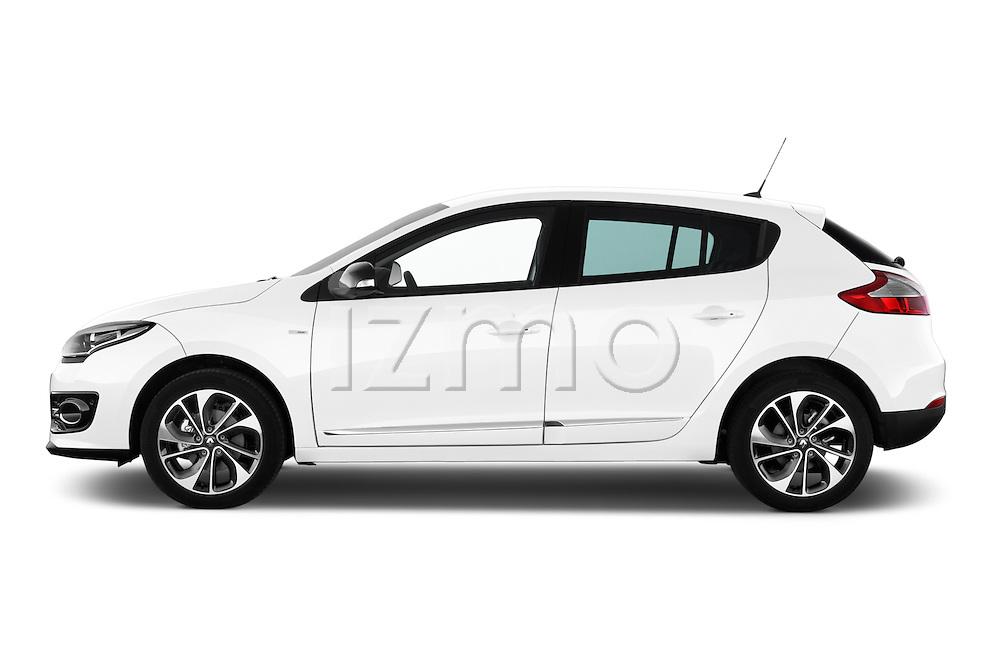 2014 Renault Megane Bose Edition 5-Door Hatchback Driver side profile view Stock Photo