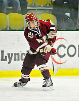 16 October 2010: Boston College Eagles' forward Melissa Bizzari, a Freshman from Stowe, VT, in action against the University of Vermont Catamounts at Gutterson Fieldhouse in Burlington, Vermont. The Eagles defeated the Lady Cats 4-1 in the second game of their weekend series. Mandatory Credit: Ed Wolfstein Photo