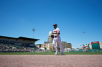 Rochester Red Wings LaMonte Wade Jr (4) during an International League game against the Scranton/Wilkes-Barre RailRiders on June 25, 2019 at Frontier Field in Rochester, New York.  Rochester defeated Scranton 10-9.  (Mike Janes/Four Seam Images)