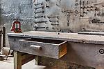 Electrician's Work Bench at vintage steam geneator,steam turbine, Seattle, WA, Georgetown Steam Plant, a National Historic Landmark in Seattle, WA USA