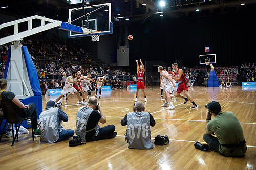 2st August 2019; Quay Centre, Sydney,  Australia; International Basketball, Canada versus New Zealand Tall Blacks; Kevin Pangos of Canada takes a free throw - Editorial Use Only.