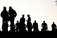 As the demonstration took place the same day of the celebration of the 60° Anniversary of the treaties of Rome, the city was armored, with hundreds of policemen and tanks, and the 'blue zone', where the celebrations took place, was surrounded by high fences.<br /> Poiche' la manifestazione coincideva con l'anniversario dei trattati di Roma, la citta' e' stata blindata da centinaia di agenti di polizia e da blindati. La 'zona blu', dove sono avvenute le celebrazioni e' stata circondata da alte cancellate.<br /> Roma 25-03-2017. Manifestazione Euro stop, No all'Unione Europea delle banche. <br /> Rome March 25th 2017. Demonstration against European Union of the banks, titled Euro stop.<br /> Foto Samantha Zucchi Insidefoto