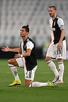 Cristiano Ronaldo and Leonardo Bonucci of Juventus react <br /> during the Serie A football match between Juventus FC and US Lecce at Juventus stadium in Turin  ( Italy ), June 26th, 2020. Play resumes behind closed doors following the outbreak of the coronavirus disease. Photo Andrea Staccioli / Insidefoto