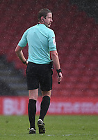 13th March 2021; Vitality Stadium, Bournemouth, Dorset, England; English Football League Championship Football, Bournemouth Athletic versus Barnsley; Referee John Brooks close to blowing the final whistle