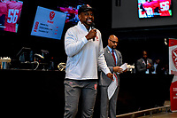 Washington, DC - Sunday JAN 26, 2020: DC Defenders head coach Pep Hamilton addresses the fans at the DC Defenders open house at  Audi Field in Washington, DC. (Photo by Phil Peters/Media Images International)