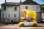 The publicity caravan before Stage 7 of the 2021 Tour de France, running 249.1km from Vierzon to Le Creusot, France. 2nd July 2021.  <br /> Picture: A.S.O./Aurelien Vialatte | Cyclefile<br /> <br /> All photos usage must carry mandatory copyright credit (© Cyclefile | A.S.O./Aurelien Vialatte)