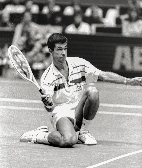 Feb 14, 1984, Netherlands, Rotterdam, Ahoy, Michiel Schapers (NED)<br /> Photo: Tennisimages/Henk Koster