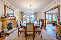 BNPS.co.uk (01202) 558833. <br /> Pic: TailorMade/BNPS<br /> <br /> Pictured: Dining room. <br /> <br /> A multi-millionaire is hoping to have a shot at selling his luxury mansion - by throwing a hi-tech golf simulator into the deal.<br />  <br /> Golf-loving Barry Bester put the waterfront property on Sandbanks, Dorset, on the market for £11m last year.<br />  <br /> He is now offering his £40,000 state-of-the-art simulator he has had built on the grounds with the sale.