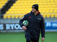 Crusaders head coach Scott Robertson during the Super Rugby Aotearoa match between the Hurricanes and Crusaders at Sky Stadium in Wellington, New Zealand on Saturday, 21 June 2020. Photo: Dave Lintott / lintottphoto.co.nz