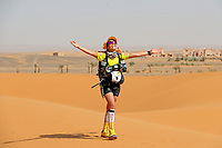 4th October 2021; Tisserdimine to Kourci Dial Zaid;  Marathon des Sables, stage 2 of  a six-day, 251 km ultramarathon, which is approximately the distance of six regular marathons. The longest single stage is 91 km long. This multiday race is held every year in southern Morocco, in the Sahara Desert. Hassna Hamdouch (MOR)