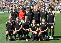 24 May 2009: FC Gold Pride Starting XI pose together for group photo before the game against Los Angeles Sol at Buck Shaw Stadium in Santa Clara, California.  Los Angeles Sol defeated FC Gold Pride, 2-0.