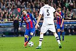 FC Barcelona's Leo Messi, VfL Borussia Monchengladbach's Tobias Strobl during Champions League match between Futbol Club Barcelona and VfL Borussia Mönchengladbach  at Camp Nou Stadium in Barcelona , Spain. December 06, 2016. (ALTERPHOTOS/Rodrigo Jimenez)