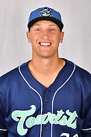 Asheville Tourists pitcher Mike Nikorak (30) during media day at McCormick Field on April 2, 2019 in Asheville, North Carolina. (Tony Farlow/Four Seam Images)