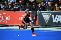 NZ's Olivia Shannon during the Sentinel Homes Trans Tasman Series hockey match between the New Zealand Black Sticks Women and the Australian Hockeyroos at Massey University Hockey Turf in Palmerston North, New Zealand on Sunday, 30 May 2021. Photo: Dave Lintott / lintottphoto.co.nz