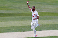 Jamie Porter of Essex celebrates taking the wicket of Jordan Cox during Essex CCC vs Kent CCC, Bob Willis Trophy Cricket at The Cloudfm County Ground on 1st August 2020