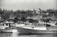 Fishing boats in picturesque harbor<br />