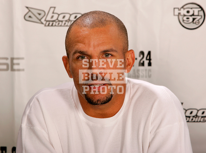 Jason Kidd of the New Jersey Nets speaks to high school basketball standouts at Basketball City in New York City on August 31, 2006.  The high school players were in town for the Elite 24 Hoops Classic, which brought together the top 24 high school basketball players in the country regardless of class or sneaker affiliation.