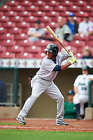 Kane County Cougars second baseman Robelys Reyes (3) during the first game of a doubleheader against the Cedar Rapids Kernels on May 10, 2016 at Perfect Game Field in Cedar Rapids, Iowa.  Kane County defeated Cedar Rapids 2-0.  (Mike Janes/Four Seam Images)