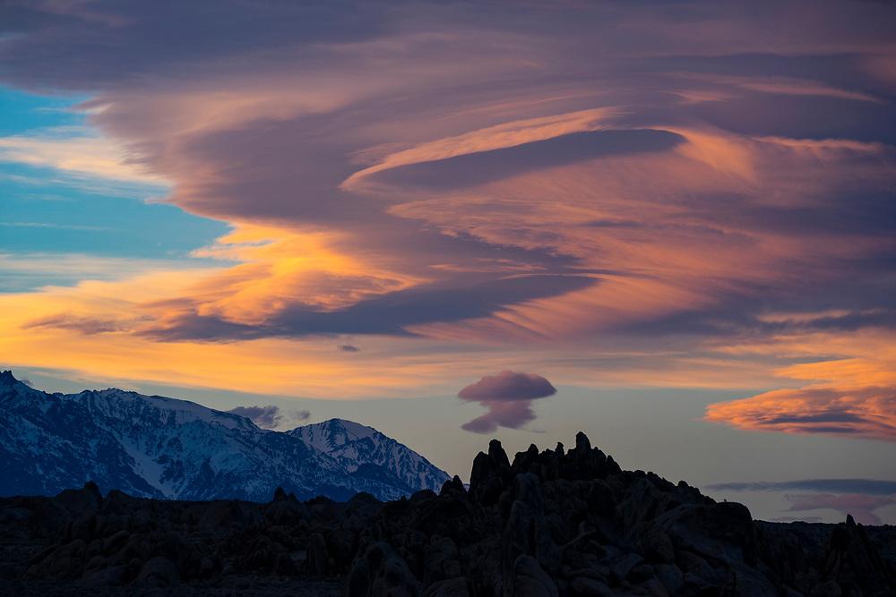 Range of light, Sierra Nevada, California