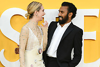 """LONDON, UK. June 18, 2019: Lily James and Himesh Patel arriving for the UK premiere of """"Yesterday"""" at the Odeon Luxe, Leicester Square, London.<br /> Picture: Steve Vas/Featureflash"""